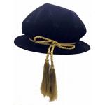 黑色博士圓帽連金穗