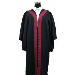 XG1 ( 橙/湖水綠/黃/紫/棗紅/紅/深綠色) 色襟畢業袍